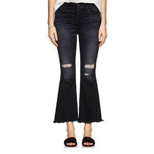 3x1 w3 higher ground gusset crop flared jeans